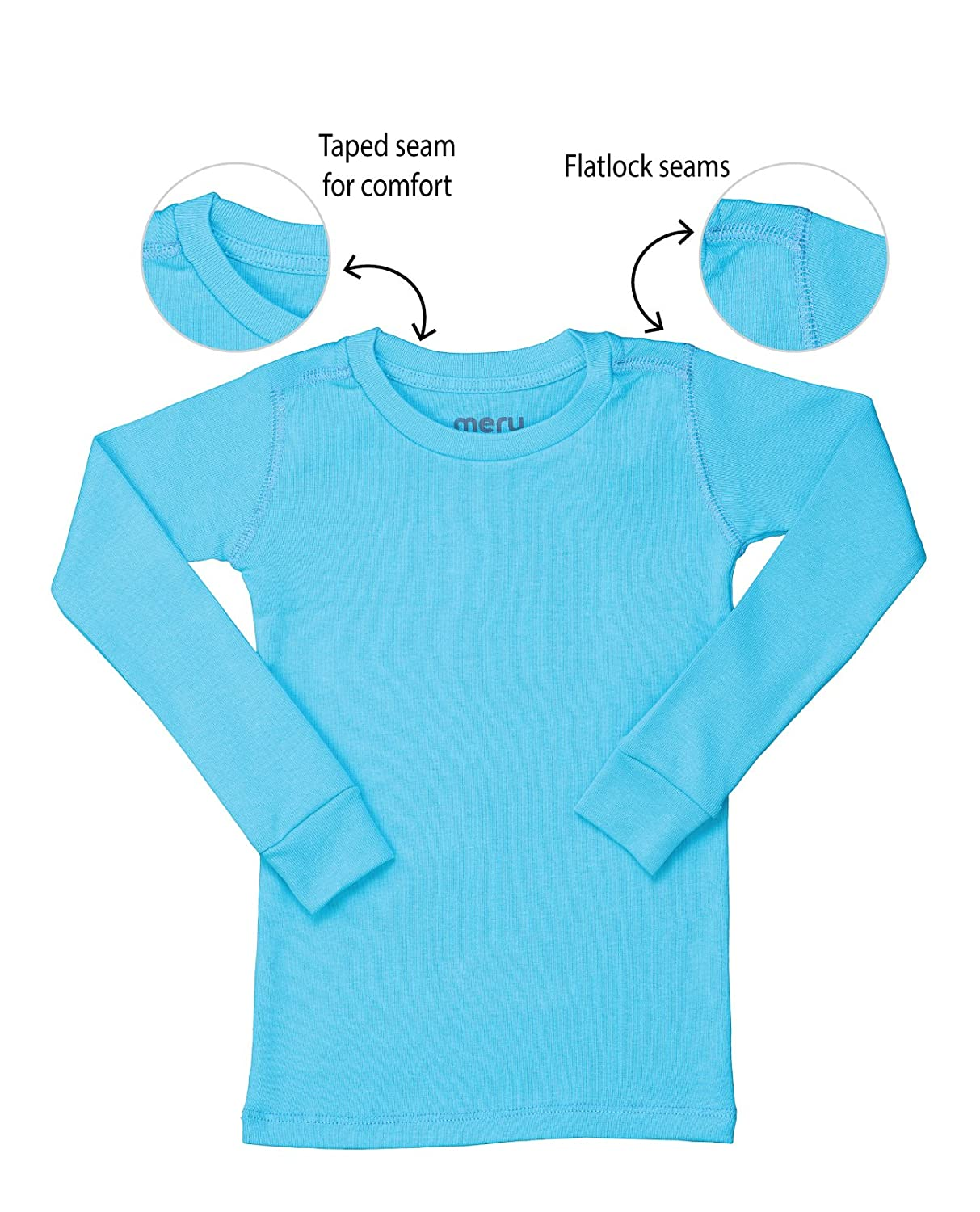 Meru Boys and Girls Unisex Solid Color Pajama Top
