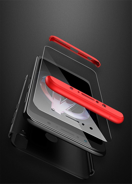 Verre tremp/é Matte Ultra Slim Cover PC Hard Case Argent+Noir DECHYI Compatible pour Coque ASUS Zenfone Max Pro M1,Cover
