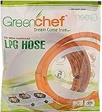 Greenchef Rubber LPG Hose Pipe, 150 cm, Orange
