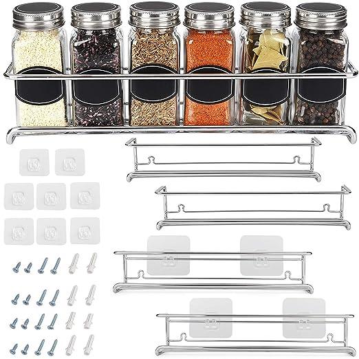 Amazon.com: Organizador de especias para armario, puerta o ...