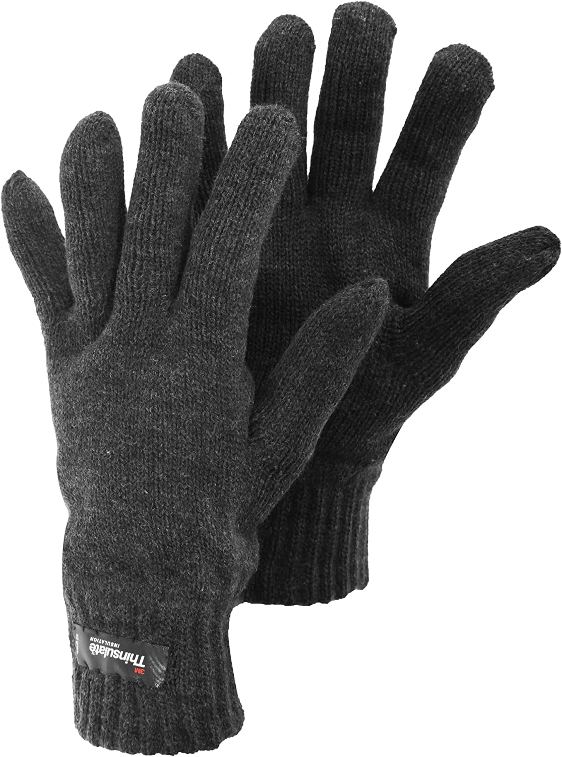 Mens Heatguard Thermal Knitted Winter Gloves