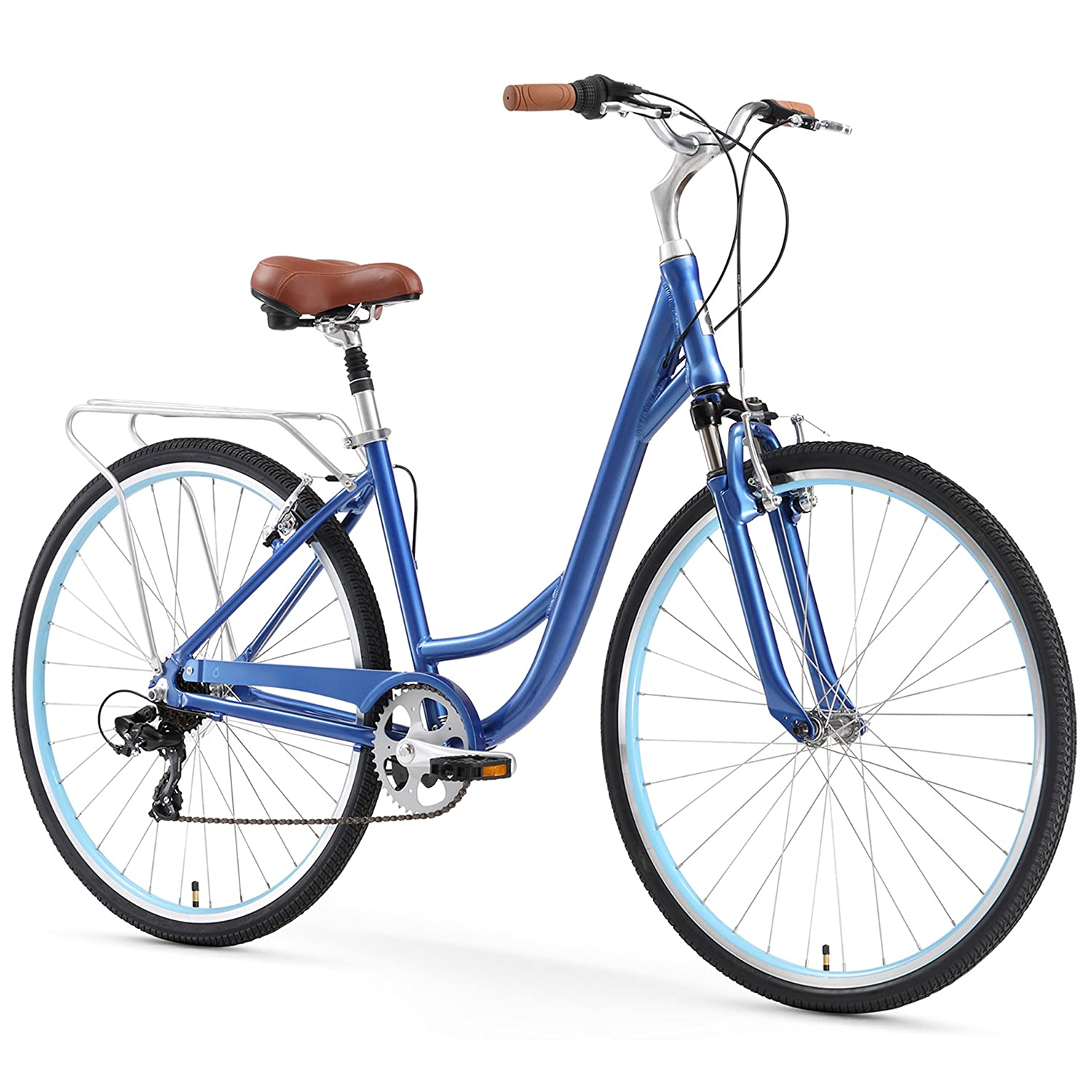 sixthreezero Body Ease Women's 7-Speed Comfort Bike, Navy Blue