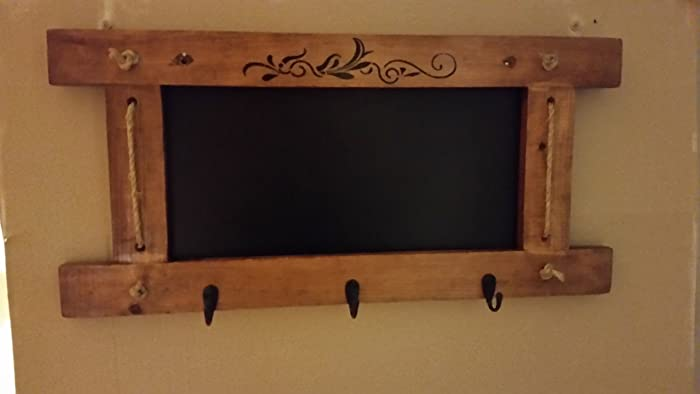 Amazon Chalkboard Key Holder Coat Rack Hat Hanger Message Board Impressive Chalkboard Coat Rack