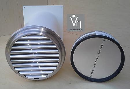 Diseño de la Gran Muralla de caja NW 125 campana extractora telescópica de tubo de la válvula antirretorno de acero inoxidable con tapa MKWSRLE125: Amazon.es: Hogar