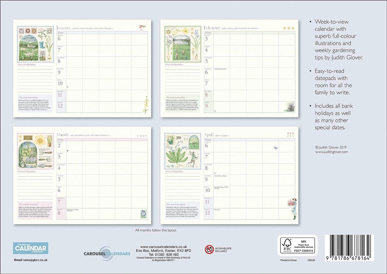 Garden Days by Judith Glover A4 Family Planner 2020