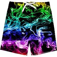 TUONROAD Niño Bañador Natación 3D Secado Rápido Ropa de Playa Hawaiano Pantalones Cortos con Bolsillos Laterales 5-16…