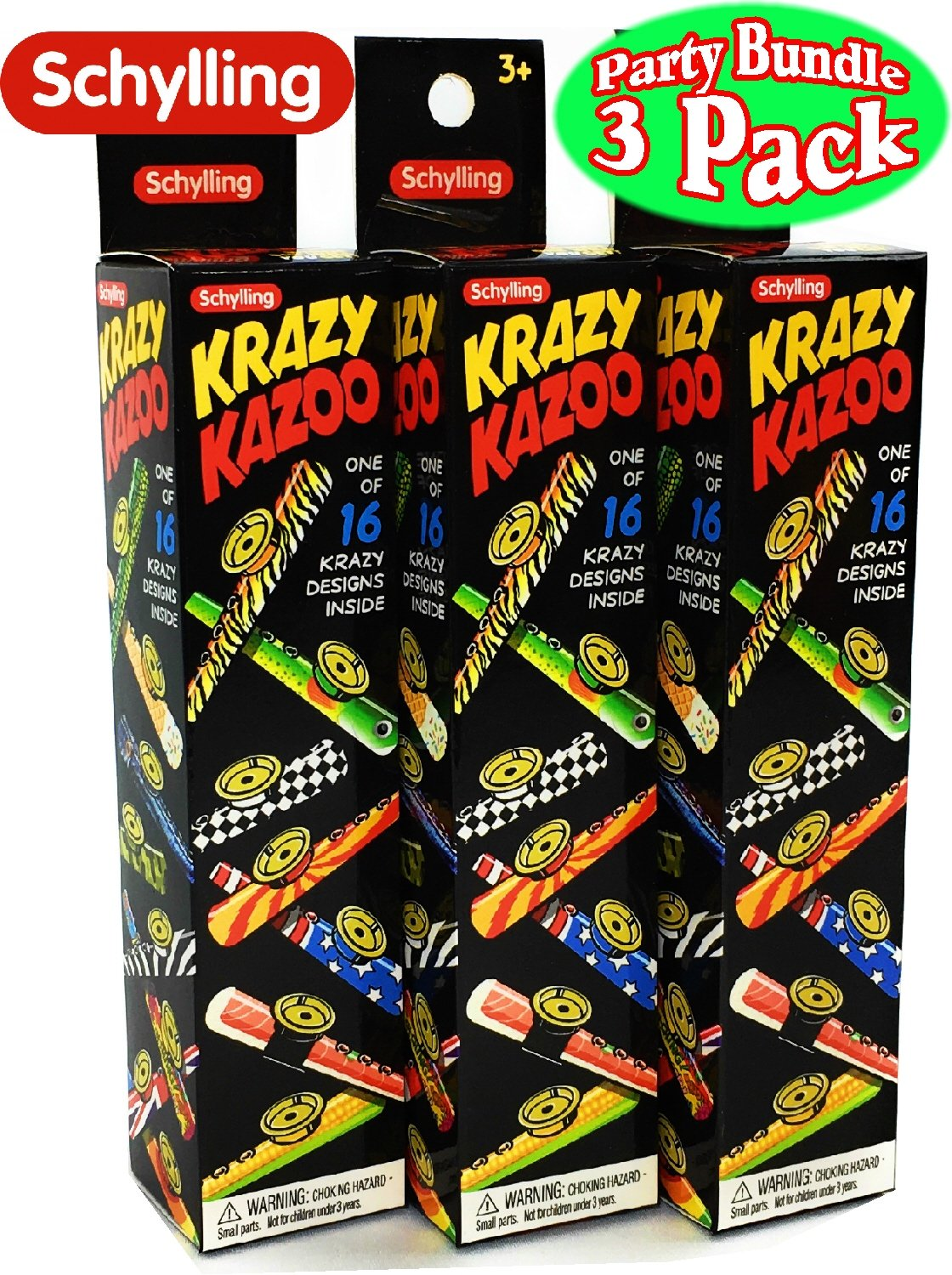 Assorted Blind Box Party Favor Bundle 3 Pack Tin Schylling Krazy Kazoo
