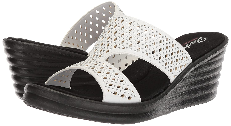 9eb7d779aadd Skechers Womens Rumbler Wave - Ibiza Summer Slide Sandal  Amazon.ca  Shoes    Handbags