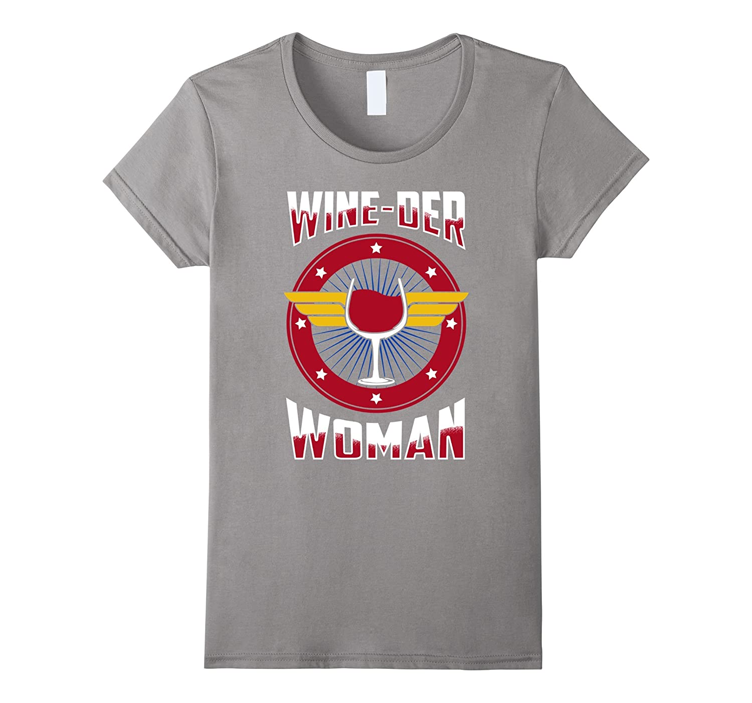 Womens Wine-der Wineder Woman T-Shirt-TH