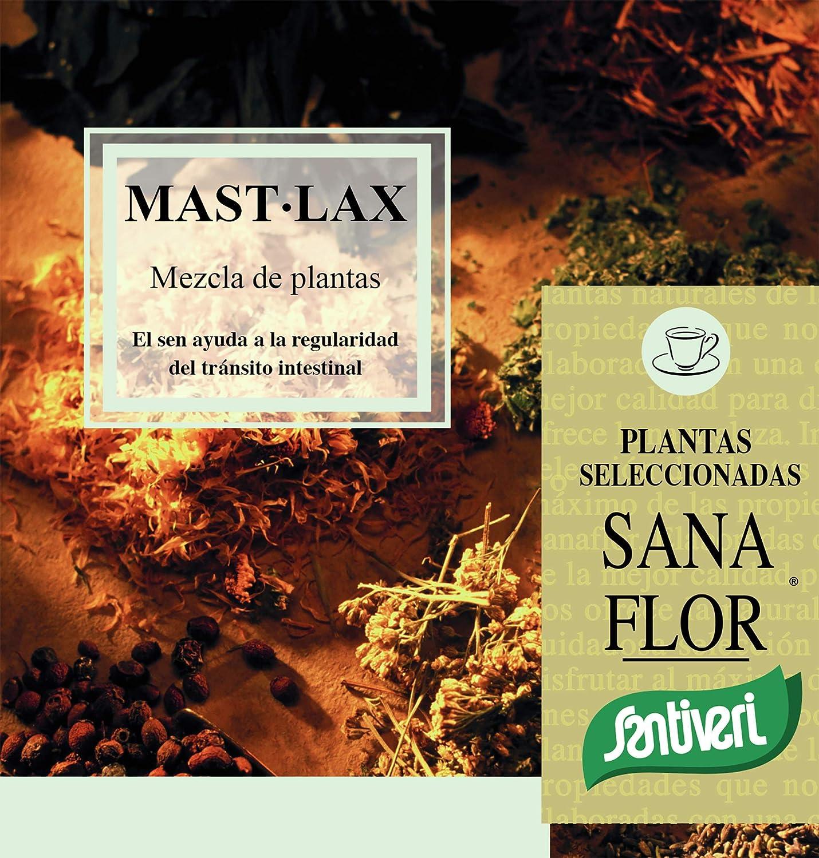 Mast Lax Sanaflor masticable de Santiveri (75 gr): Complemento alimenticio a base de plantas para masticar para ayudar a la regularidad del tránsito ...