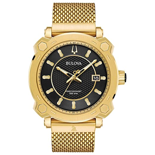Bulova 97b163 Grammy Especial Edición Precisionist Reloj para Hombre Dorado 44 mm Tono Dorado Caja de Acero Inoxidable: Amazon.es: Relojes