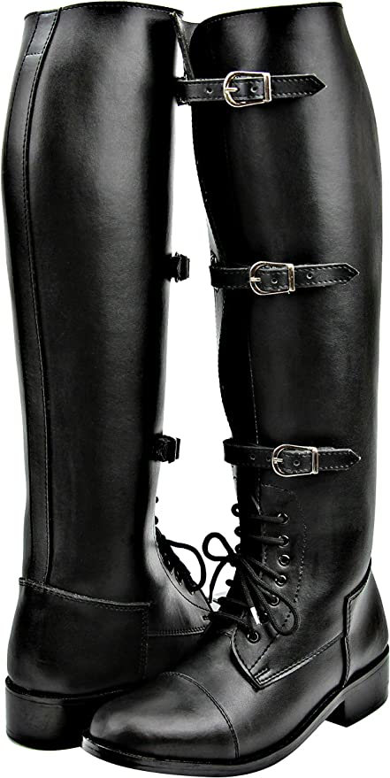 Amazon.com: Hispar Mens Man Stallion Field Horse Riding Boots Stylish  Fashion Equestrian Black: Sports & Outdoors