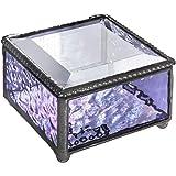 J Devlin Box 899 Purple Lavender Glass Keepsake Trinket Decorative Jewelry Box