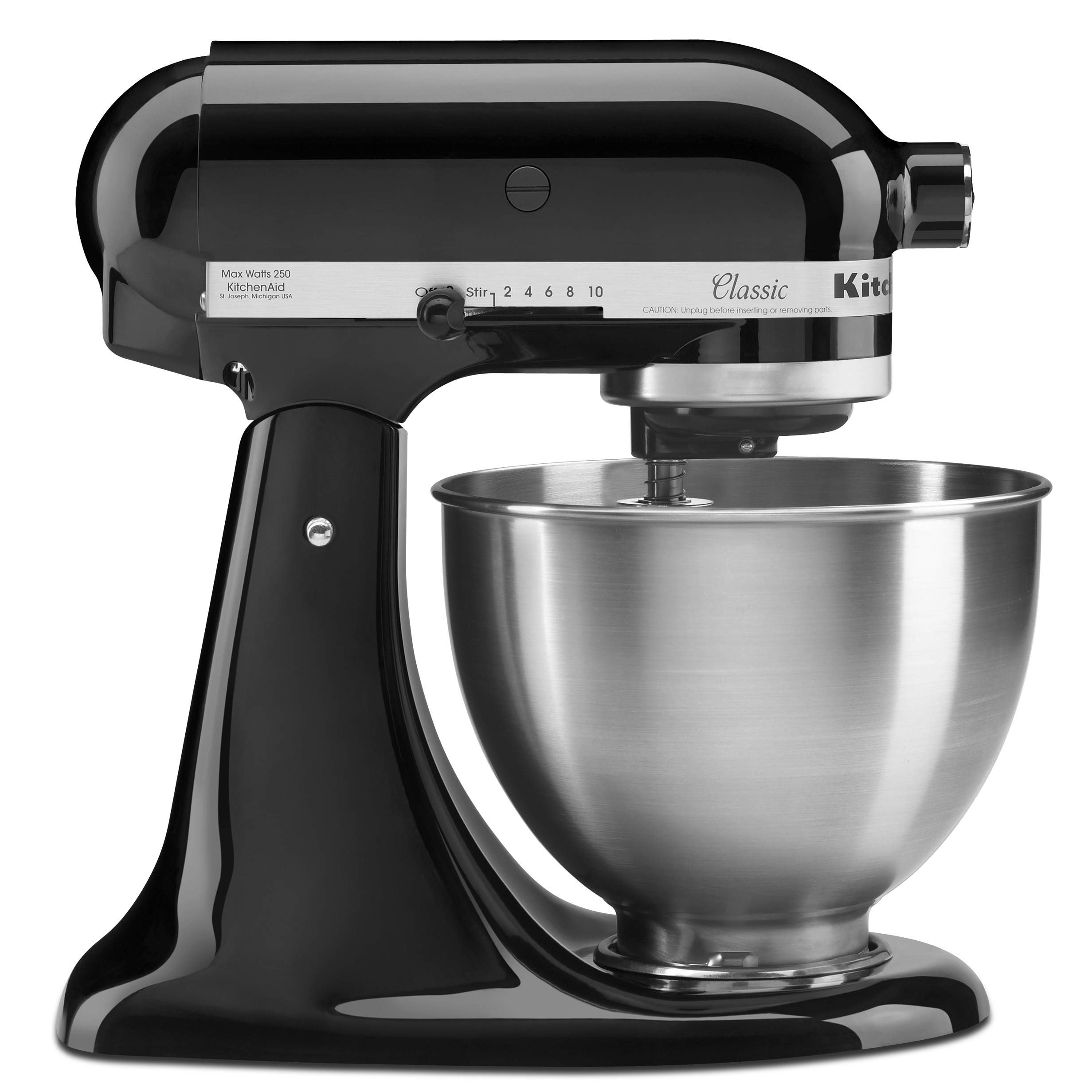 KitchenAid Classic Series 4.5 Quart Tilt-Head Stand Mixer, Onyx Black (K45SSOB) by KitchenAid
