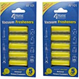 4YourHome Lemon Fresh Air Freshener Sticks For All Bagged Vacuum Cleaners - Twin Pack (10 Sticks)