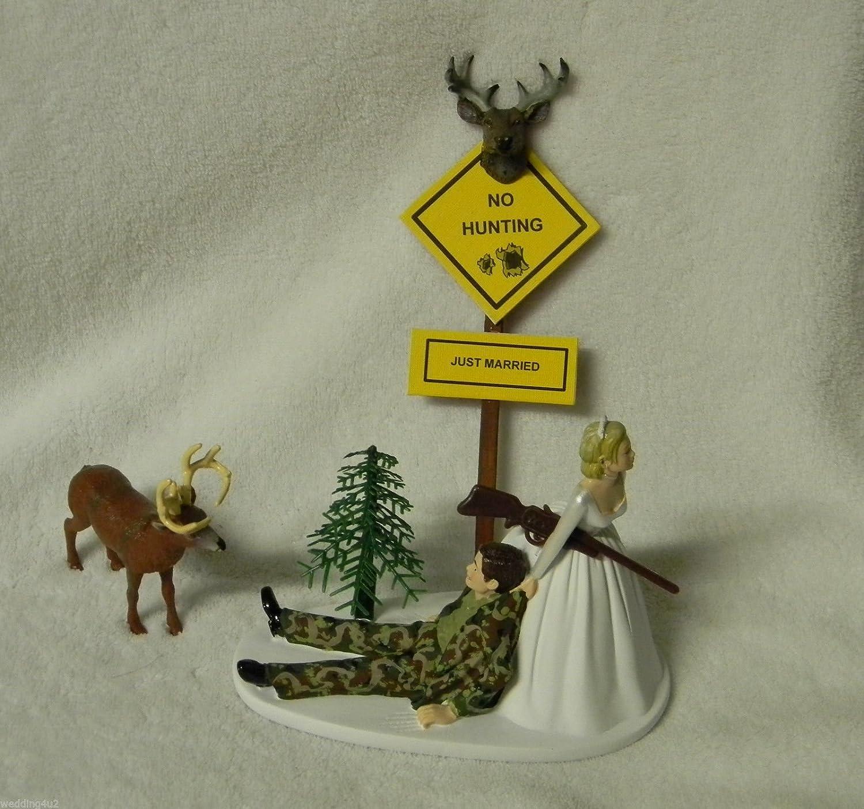 Amazon Wedding Humorous Camo Redneck Deer Hunter Hunting Cake Topper Kitchen Dining