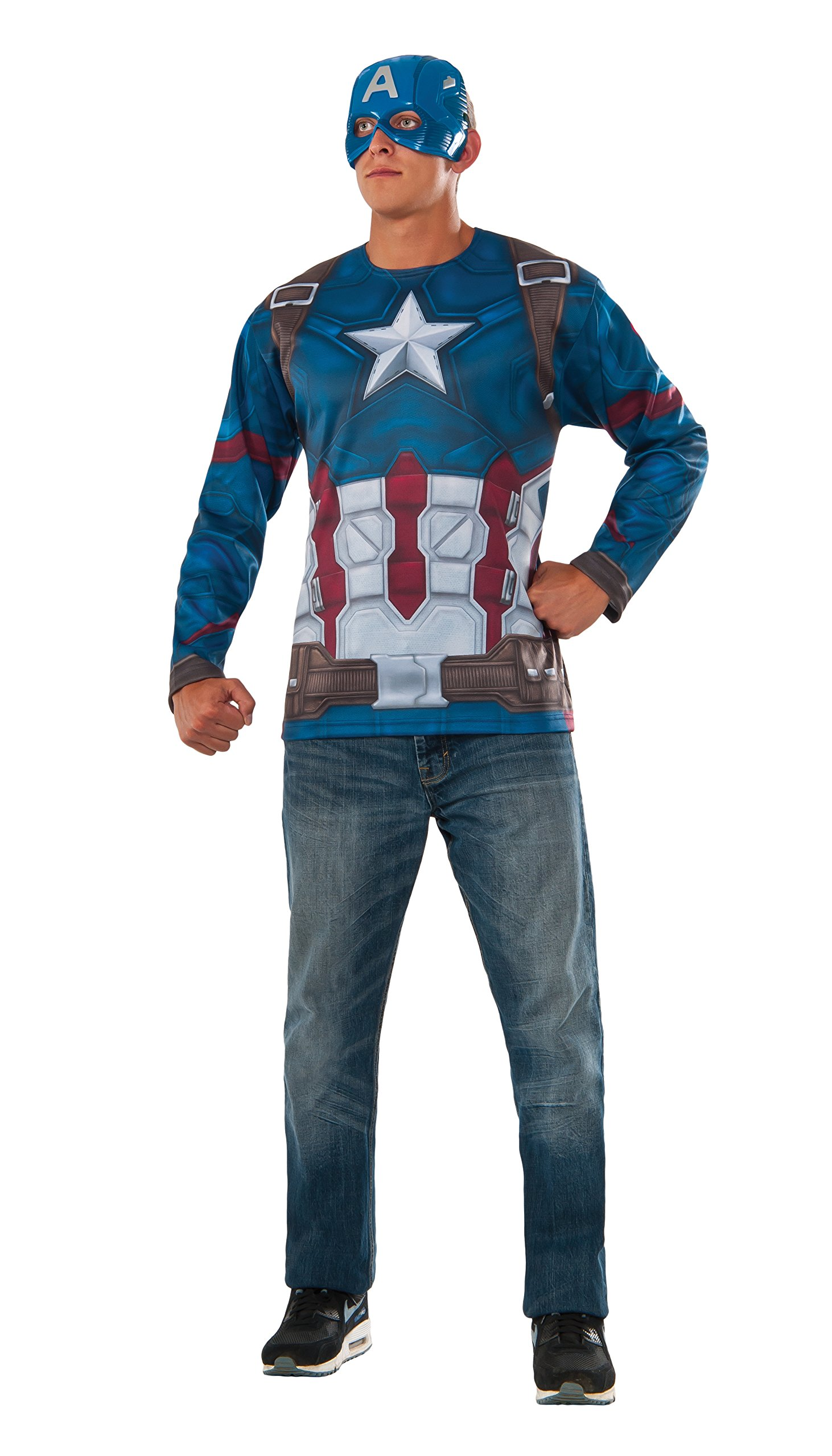 Rubie's Costume Co Captain America: Civil War Captain America Costume Top & Mask, Multi, Extra Large