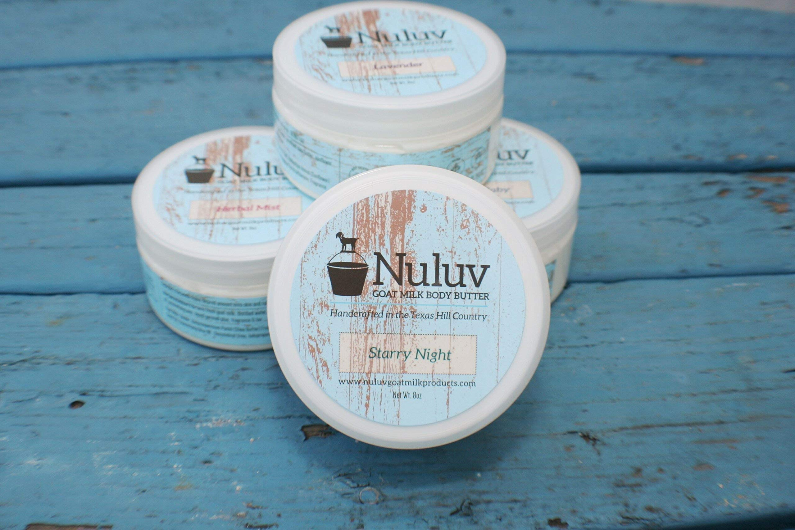 Set of 2 Nuluv Goat Milk Products 8oz. Jars Body Butter
