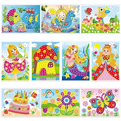 Amazon Com Lizipai Crystal Diamond Mosaic Sticker Painting Kids