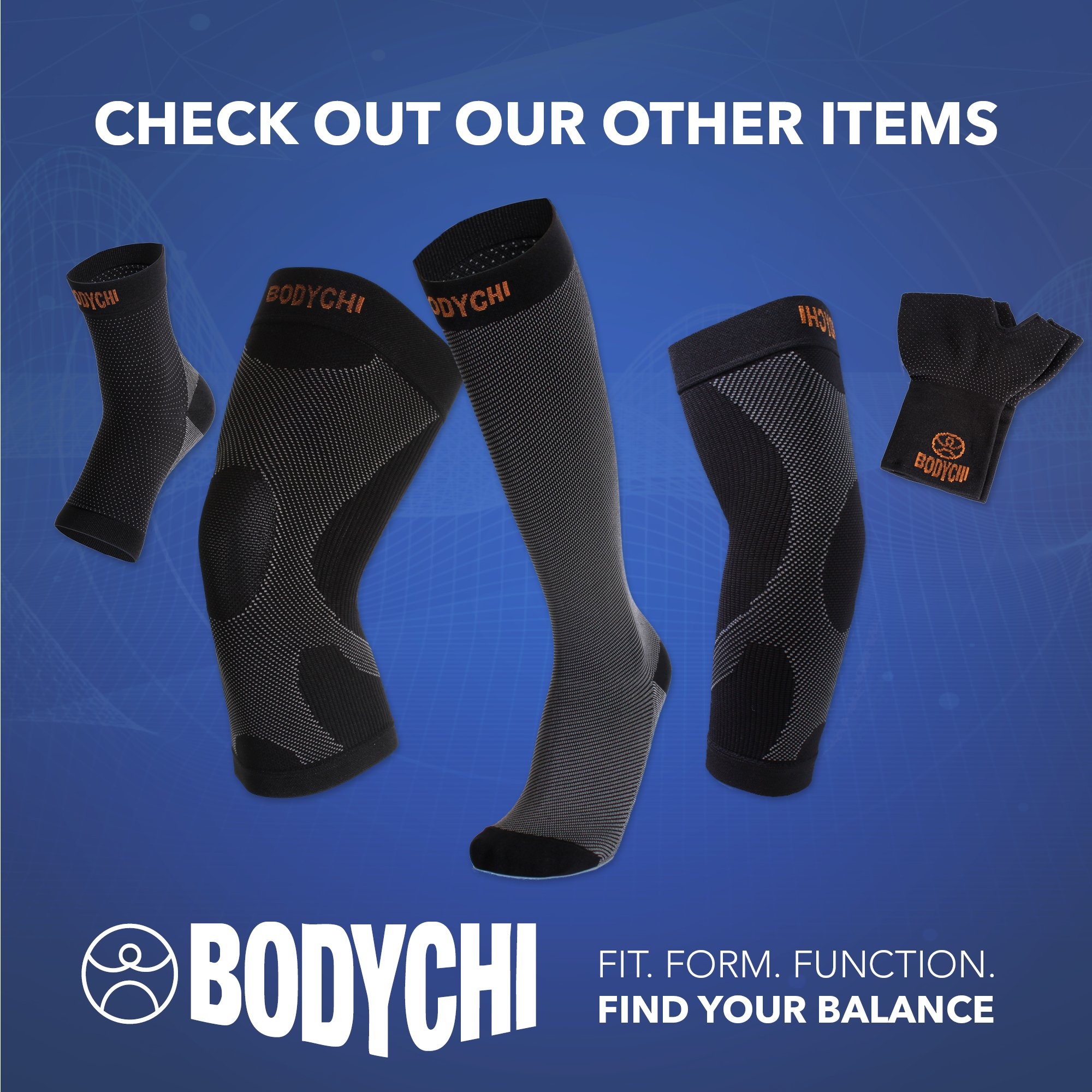 BODYCHI Men and Women Seamless 20-30 mmHg Compression Knee Support Sleeve for Joint Protection and Support for Running, Sports, Knee Pain Relief, Knee Sleeve, Comes in a Pair, Large by BODYCHI (Image #5)