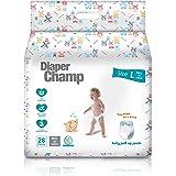 Diaper Champ Baby Diaper Pants, L Size, 28 Counts, No Chlorine & Paraben