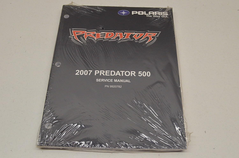 Amazon.com: Polaris 9920782 Predator 500 Service Manual 07 07 Predator 500  QTY 1: Automotive