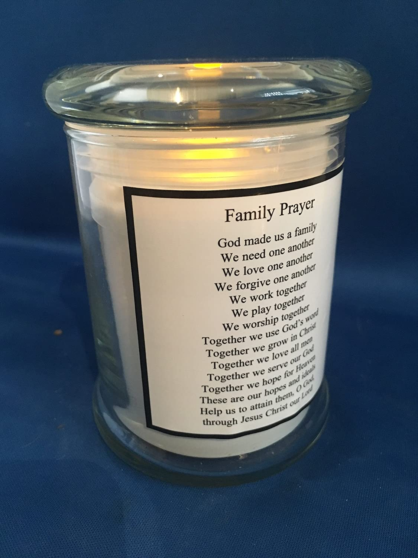 Der Heiligen Familie Led Memorial Grablicht Im Glas Amazon De Garten