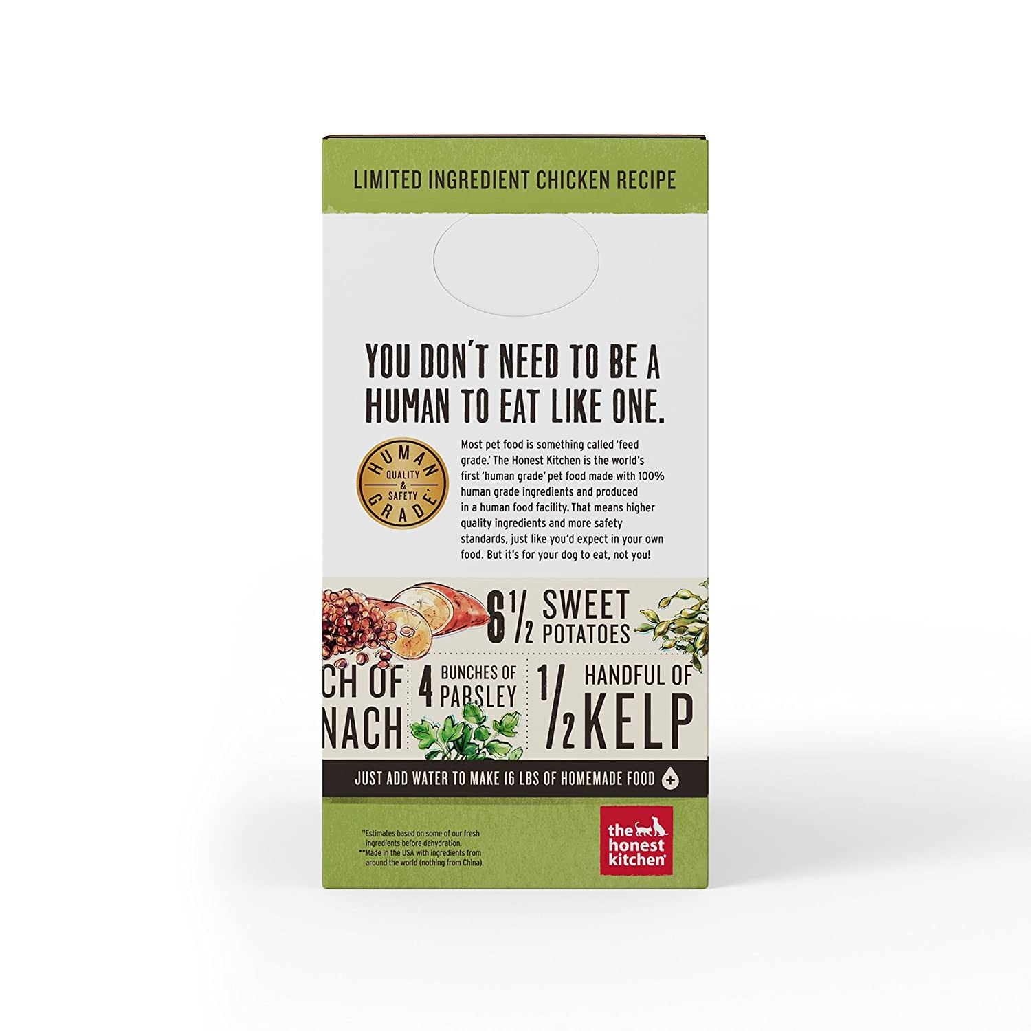 Honest Kitchen The Limited Ingredient Chicken Dog Food Recipe, 4 lb ...