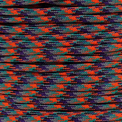 PARACORD PLANET 10 20 25 50 100 Foot Hanks and 250 1000 Foot Spools of Parachute 550 Cord Type III 7 Strand Paracord Red; White; Blue 20 Feet