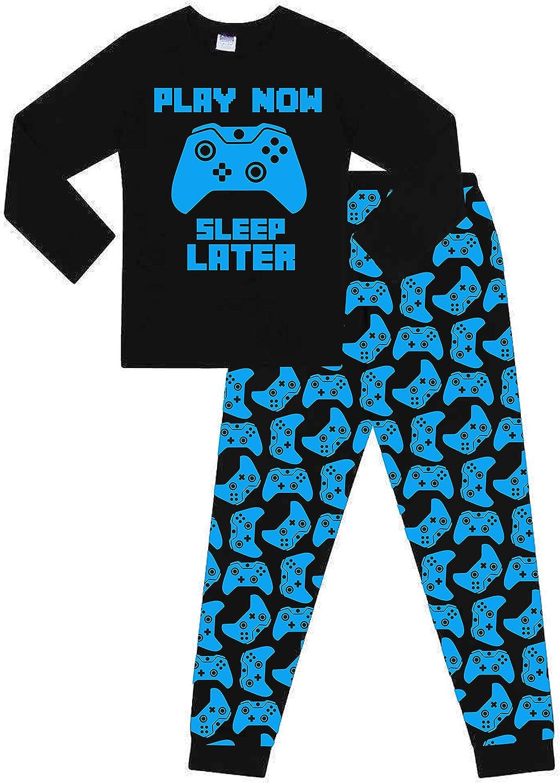 The PyjamaFactory Pigiama Lungo in Cotone per Bambini Play Now Sleep Later