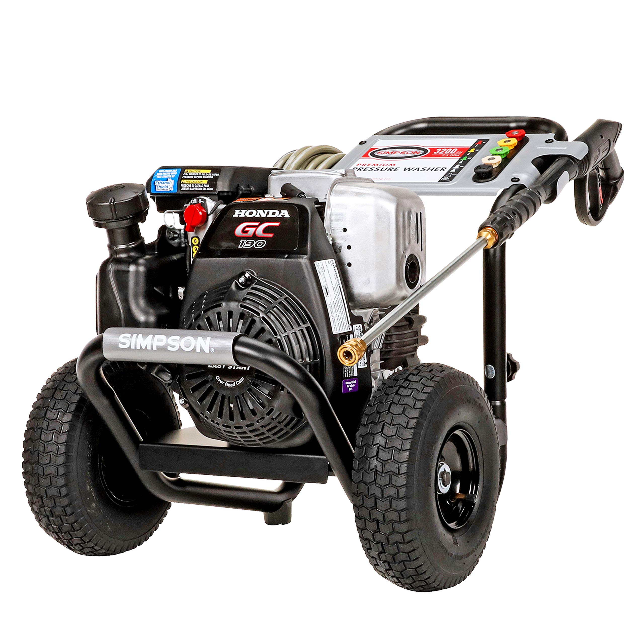 Simpson MSH3125 MegaShot Gas Pressure Washer Powered by Honda GC190, 3200 PSI at 2.5 GPM by SIMPSON