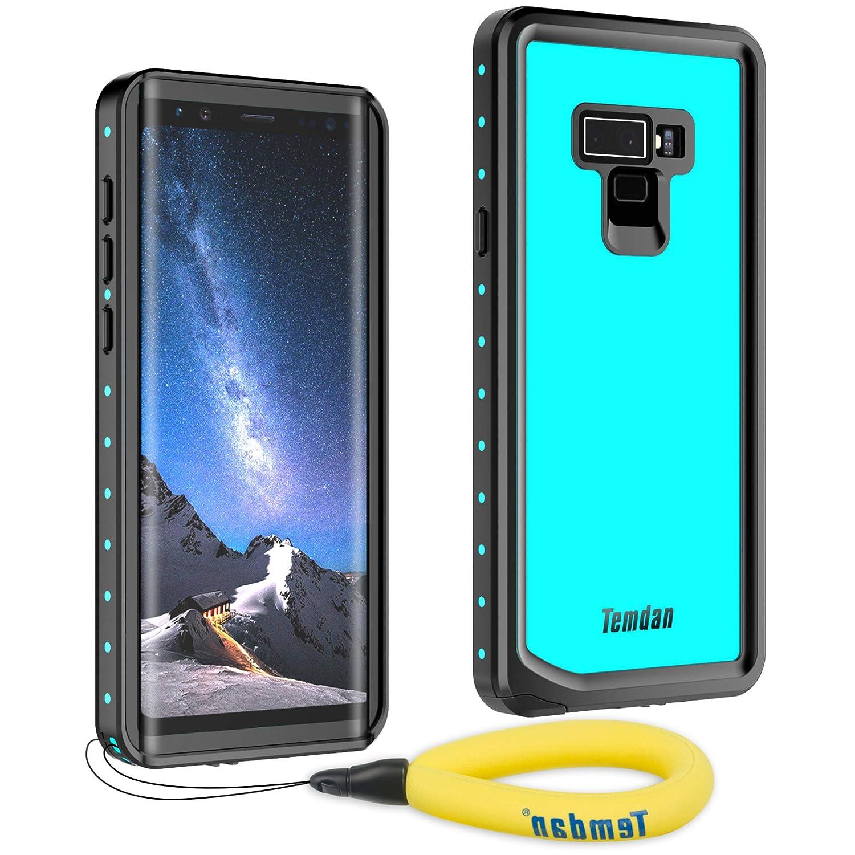 premium selection 891eb ecb34 Temdan Samsung Galaxy Note 9 Waterproof Case, Heavy Duty Support Wireless  Charging Full Body Shockproof Case Built in Screen Protector Underwater ...
