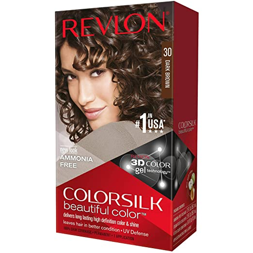 Revlon ColorSilk Hair Color, 30 Dark Brown 1 ea (Pack of 12)