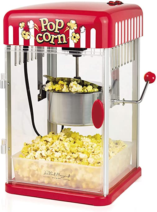 Machine à Popcorn Appareil Look Rétro Années 50 Rouge Popcorn Maker Cinema Air
