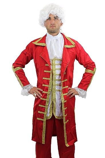 dressmeup Barone rosso: Pregiato Costume da Uomo Barocco