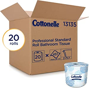 Cottonelle 13135 Two-Ply Bathroom Tissue, 451 Sheets per Roll (Case of 20 Rolls)
