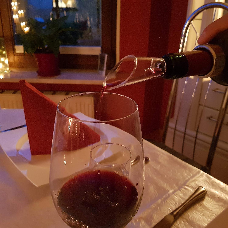 famvis Wein Geschenk Set Kellnermesser Vacuumverschluss Tropfring Ausgiesser mit Bel/üfter edel und sch/ön