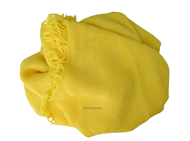 Manta decorativa amarilla Canario Plaid suave para sofá y ...