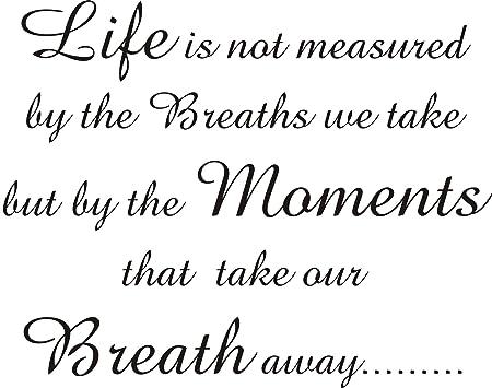 Wall art sticker vinyl quote take that lyrics gift  Moments that take our  breath away  59x75CM