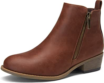 Jeossy Women's Ankle Boots Thick Heel Low Heeled Booties for Women