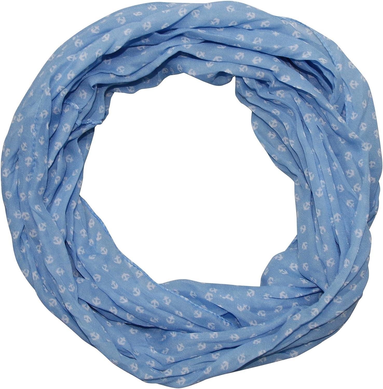 Damen Anker Marine Seide Loop Schal