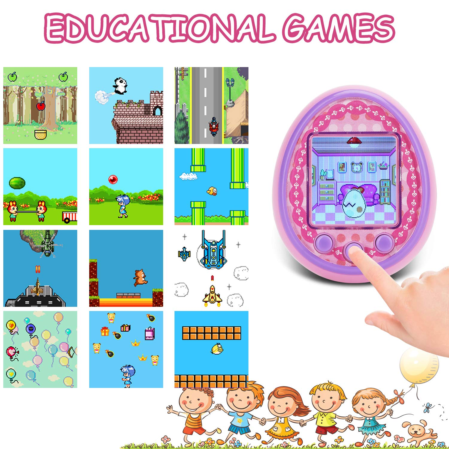 Virtual Digital Pets Toys Electronic Pets Game Machine HD Color Screen for Over 6 Years Old Child Toy 2019 New Version as a Best Birthday Gift for Boys Girls by Touma pets (Image #5)