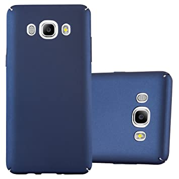 Cadorabo Funda para Samsung Galaxy J5 2016 en Metal Azul - Cubierta Protección de Plástico Duro Super Delgada e Inflexible con Antichoque - Case Cover ...