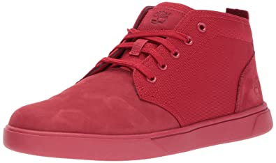 Timberland Men's Groveton LTT Chukka Boot, Red Nubuck