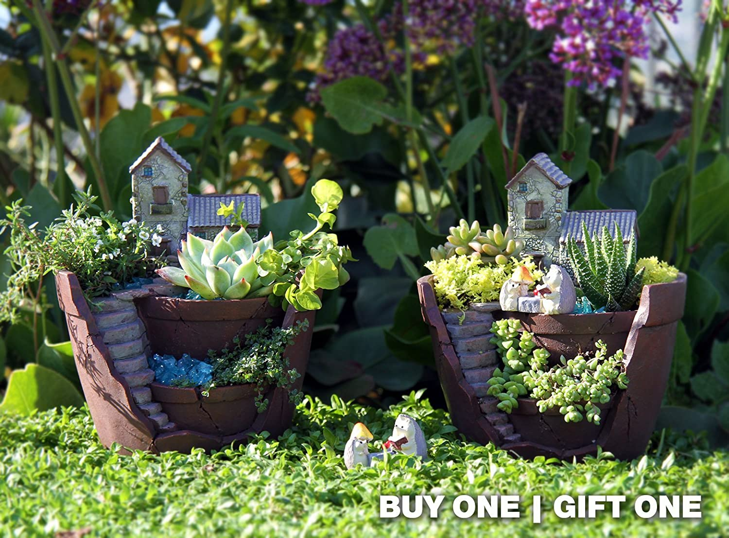 Top 30 stunning low budget diy garden pots and containers 187 home - Amazon Com Fairy Garden Planter Indoor And Outdoor Pot Makes The Perfect Idea For Fairy Lovers Plants Not Included Garden Outdoor