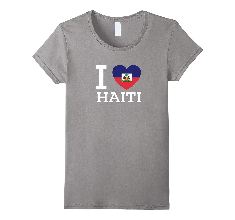 I Love HAITI Flag Heart special T Shirt for Haiti Lovers
