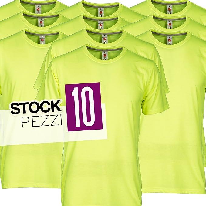 T Giallo 10 ChemagliettePacco Uomo Stock Da Magliette Lavoro Shirt fYb76gyv
