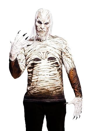 Yiija Fast Fun Disfraz camiseta Walker, para adultos adulto, talla L, color blanco