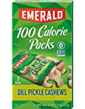Emerald Dill Pickle Cashews, 100 Calorie Packs, 0.62 Ounce, 7 Count
