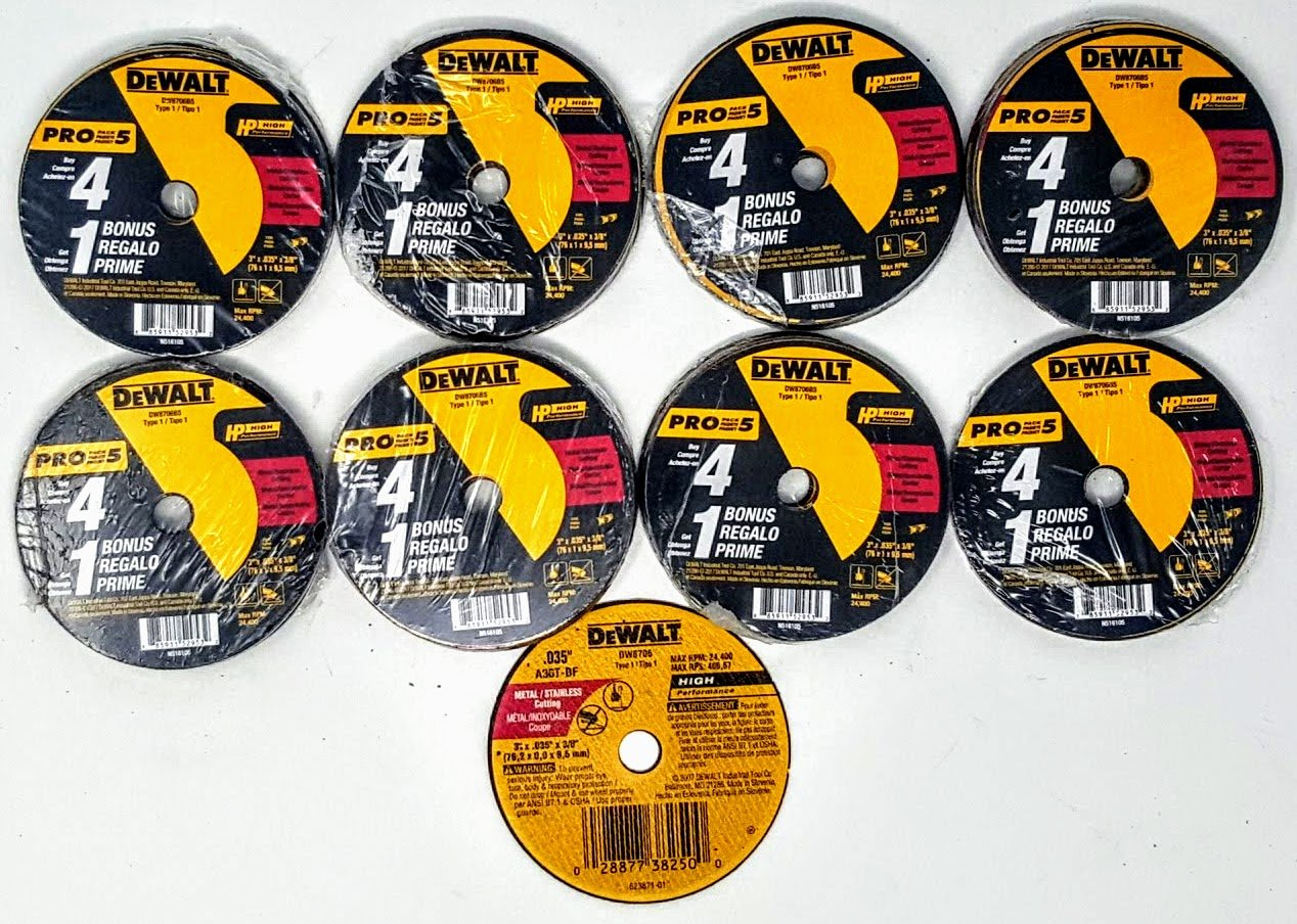 Dewalt DW8706 3'' x .035'' x 3/8'' Fast-Cutting Cut-off Wheels (40)